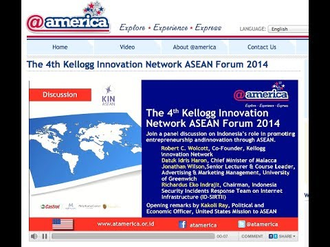 Kellogg Innovation Network ASEAN Forum: talk by Dr Jonathan A.J. Wilson