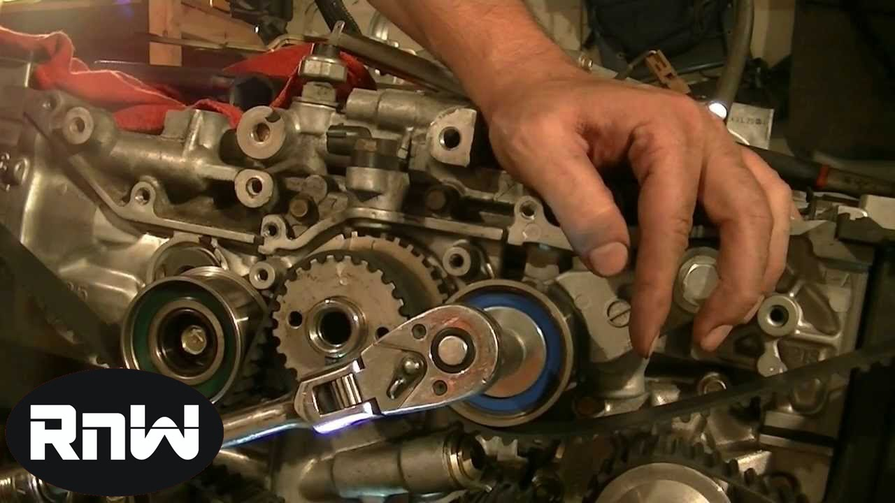 subaru timing belt replacement ej25 sohc part 1 [ 1280 x 720 Pixel ]