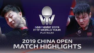 Fan Zhendong vs Ma Long | 2019 ITTF China Open Highlights (1/4)
