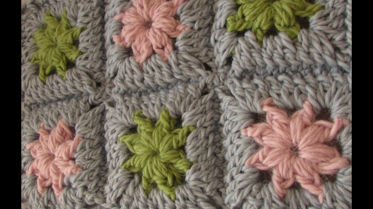 Easy Crochet Granny Square Baby Blanket Pattern : VERY EASY crochet chunky granny square - chunky baby ...
