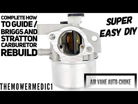 HOW TO CORRECTLY REBUILD THE CARBURETOR ON JUST ABOUT ANY BRIGGS AND STRATTON L HEAD PUSH MOWER ENG