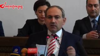 Nikol Pashinyan,s  first speech as a member of Yelq/Egress dashing