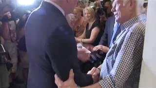 'Aussie P.M. Scott Morrison's emotional moment at Pelligrini's'
