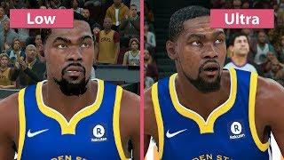NBA 2K18 – PC 4K Low vs. Ultra Graphics Comparison & Frame Rate