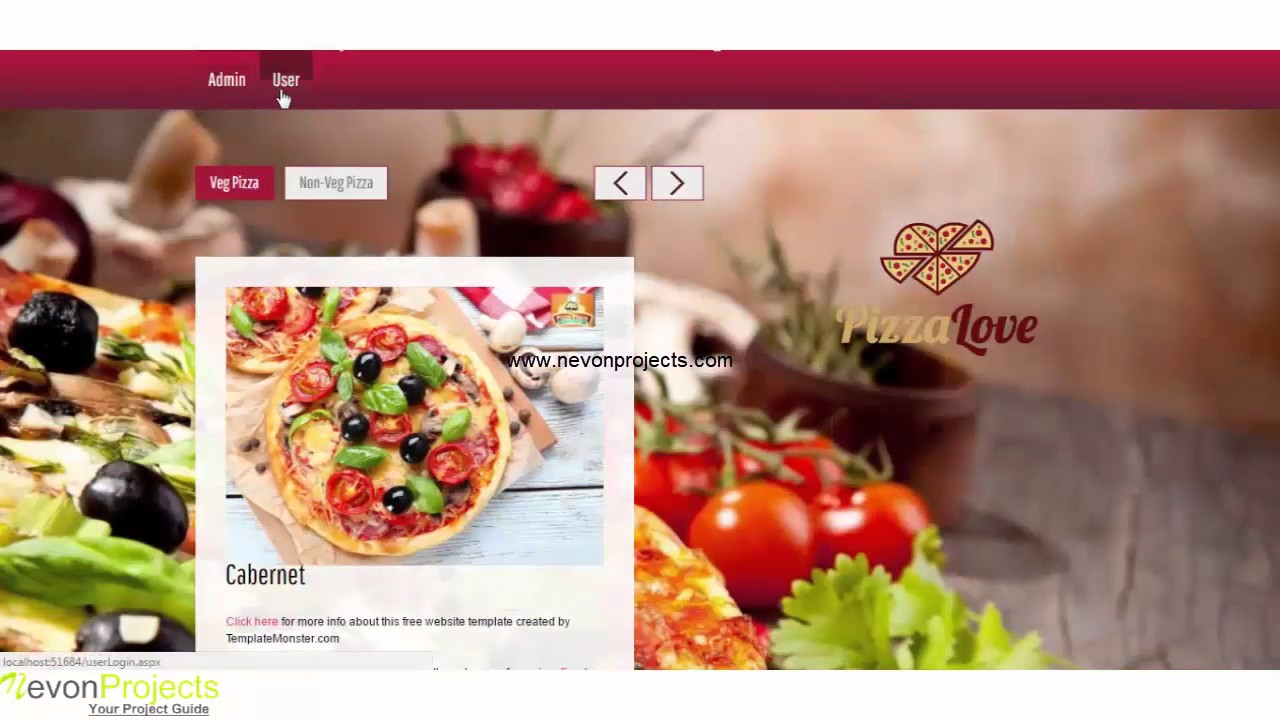 Online Pizza Ordering System