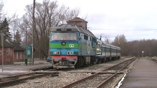 Тепловоз ТЭП70-0320 на ст. Рапла / TEP70-0320 at Rapla station