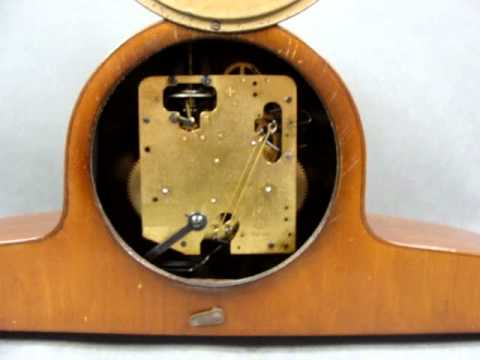 GERMANY F.H.S. HERMLE CHIMING MANTEL CLOCK