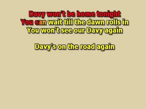 Davy's on the road again Manfred Man instrumental lyrics