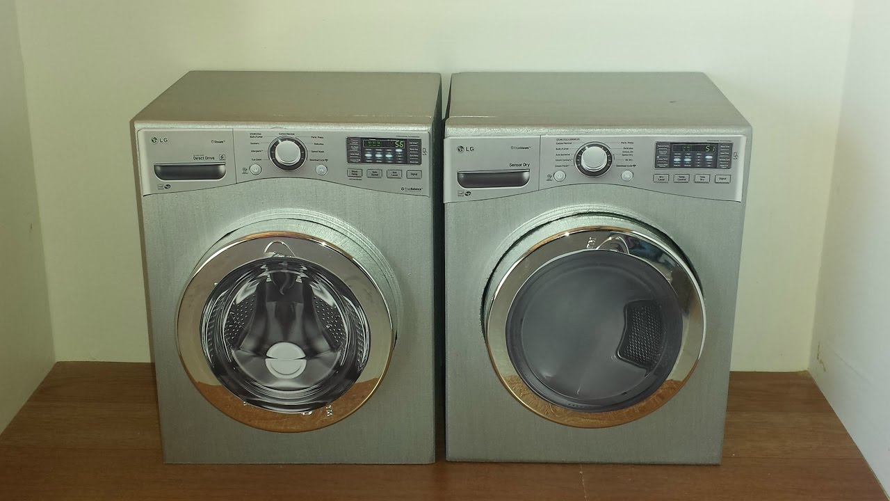 Diy 1 6 Scale Doll Washer And Dryer