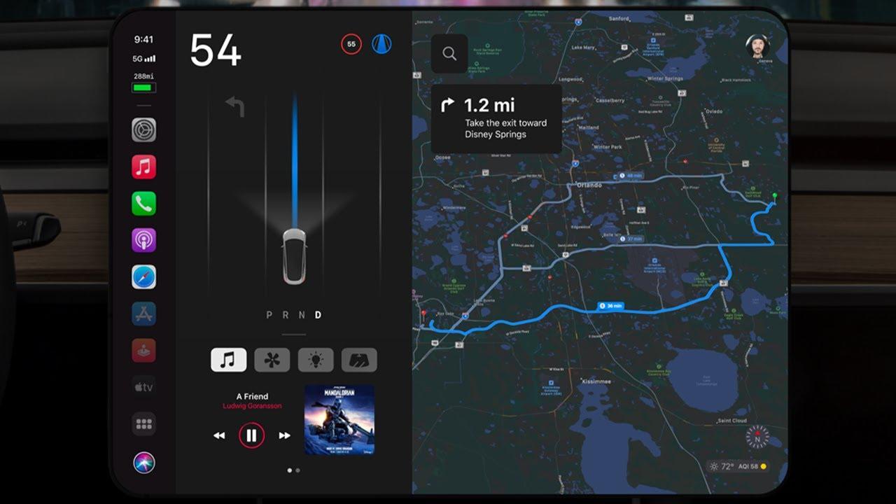 Apple Autos UI Concept