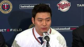 Byung Ho Park press conference Minnesota Twins
