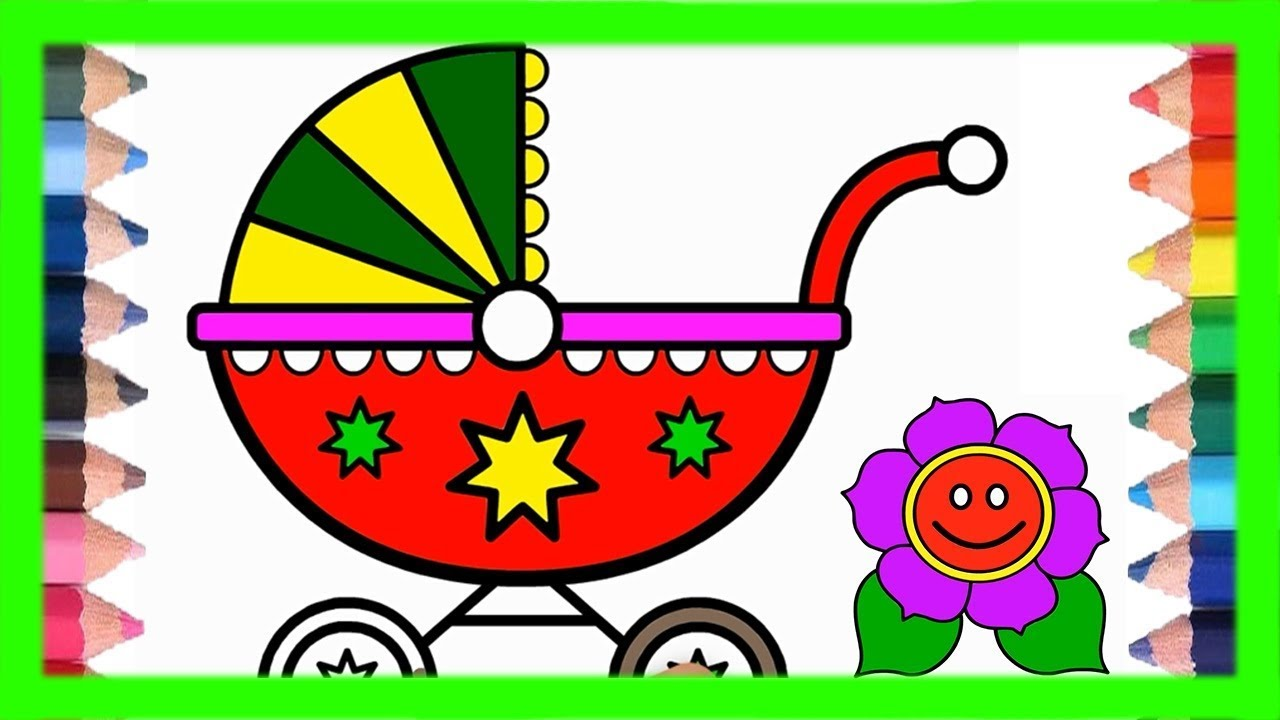 Toys and flowers Drawing for kids | step by step drawing | coloring ...
