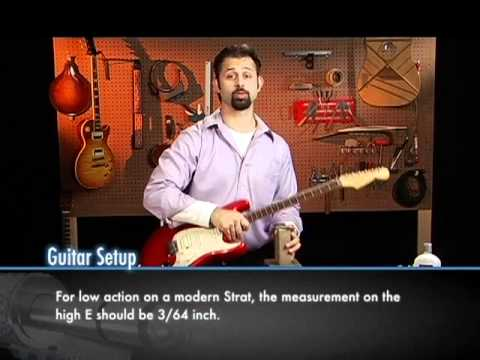 adjusting the action on an electric guitar youtube. Black Bedroom Furniture Sets. Home Design Ideas