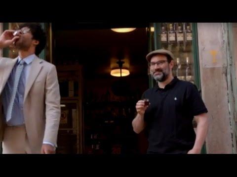 Adam Buxton & Richard Ayoade drinking in Lisbon - Travel Man S03E03