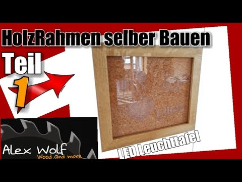 1 2 led leucht tafel selber machen make led light panel yourself youtube. Black Bedroom Furniture Sets. Home Design Ideas