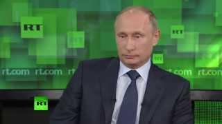 Путин о своем разводе: «Мы никогда не венчались»(Президент России Владимир Путин посетил новый комплекс RT, где встретился с главным редактором и журналиста..., 2013-06-11T15:36:21.000Z)