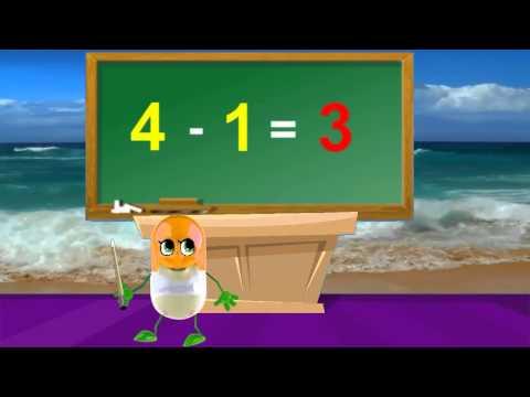 Nursery Rhymes Math Tutorial | How To Subtract 1 | Kids Songs In English Lyrics