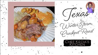 Texas Winter Storm Crockpot Roast
