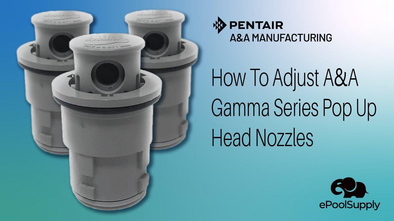 A Gamma Series Pop Up Head Nozzles