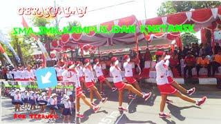 wow!celana dalam kelihatan!Gerak Jalan Putri Dewasa tingakat SMA,SMK, dan INSTANSI2019| hut RI ke 74