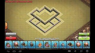 clash of clans 4 seviye köy binası düzeni hybrid