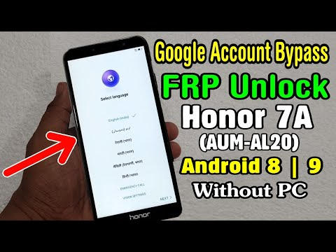 Honor 7A (AUM-AL20) Google/FRP Unlock | Help & Feedback Not Working in TalkBack | Android 8, 9 No PC