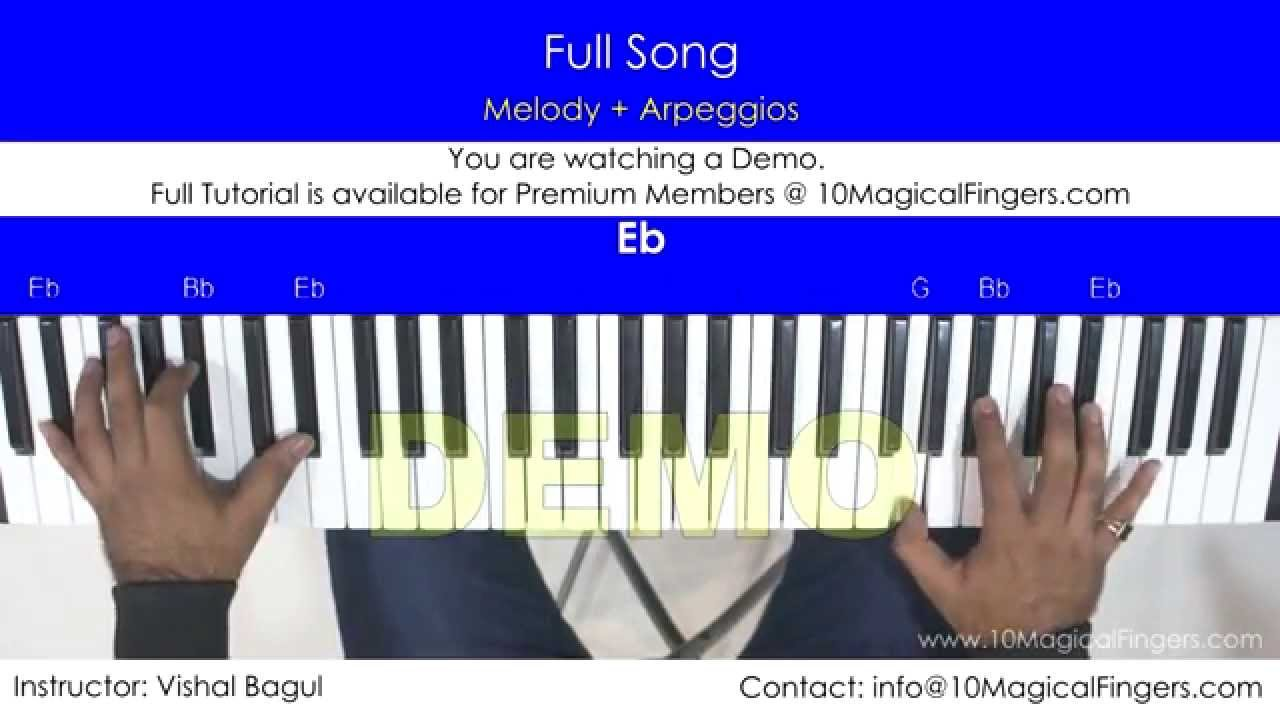Lag Ja Gale Piano Tutorial With Western Staff Notations And Chords