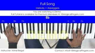 Lag Ja Gale Piano Tutorial with Western Staff Notations and Chords | www.10MagicalFingers.com.mp3