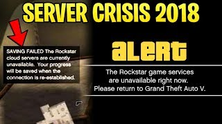 GTA Online SERVER CRISIS 2018 - What NOT To Do How to Get Back Online  No New Vehicles