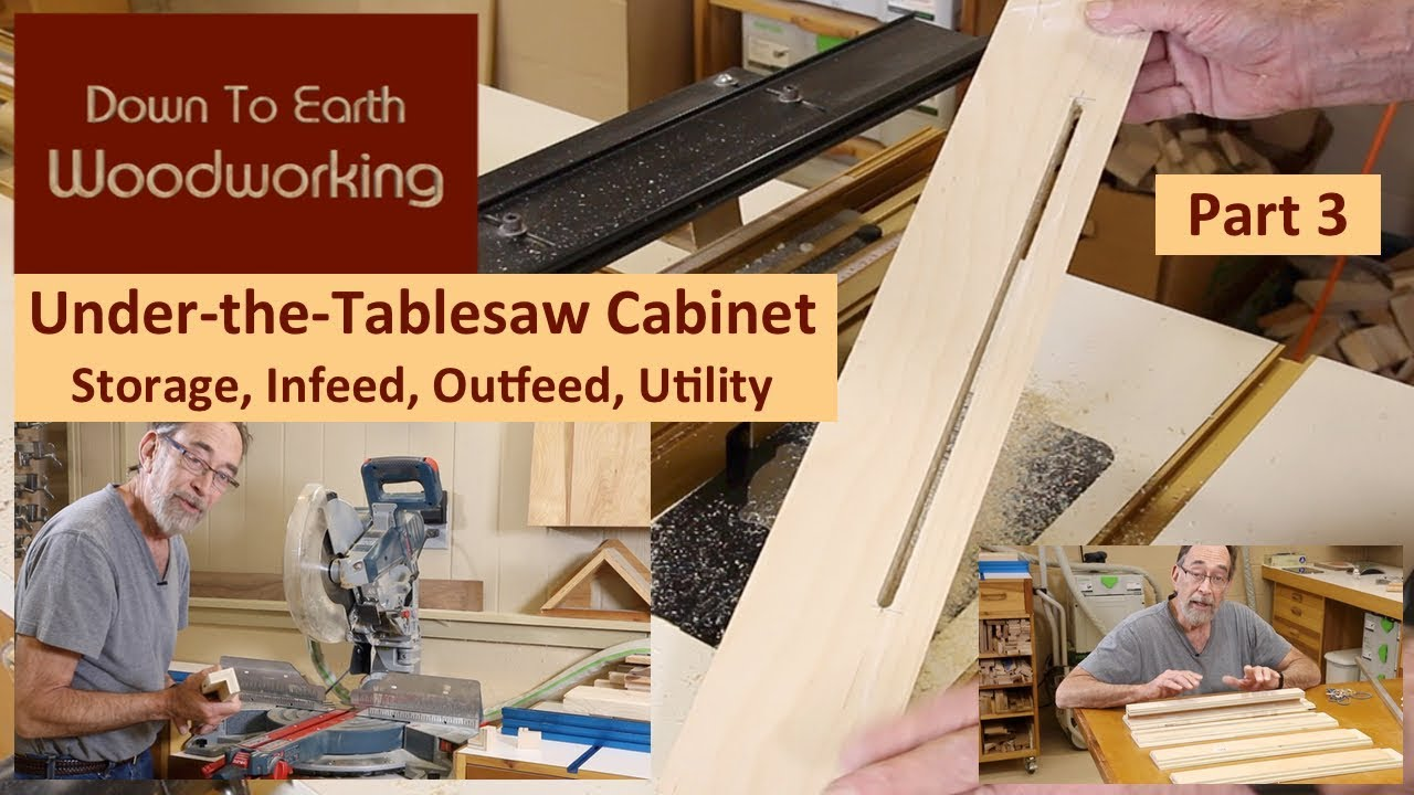 Under Table Saw Storage Cabinet Part 3 Youtube