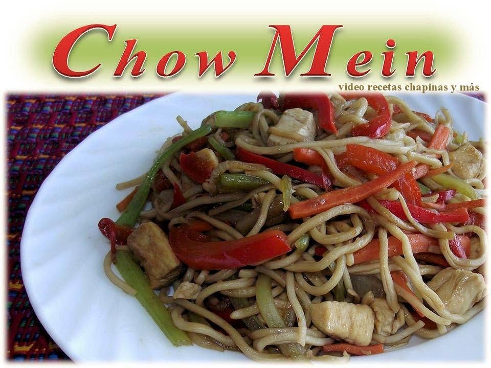 Receta Chow Mein Guatemala  YouTube