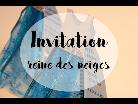 Gouter danniversaire invitations reine des neiges diy youtube gouter danniversaire invitations reine des neiges diy youtube stopboris Images