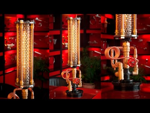 Steampunk DIY Industrial Pipe Lamp #8