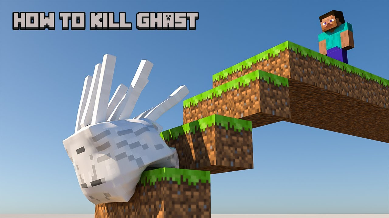 minecraft - How to kill a Ghast [softbody simulation]