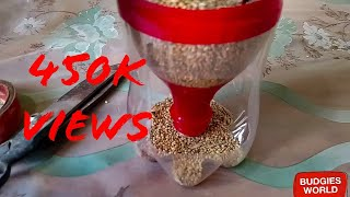HOW TO MAKE BIRD GRAVITY FEEDER IN URDU