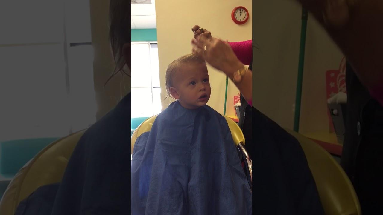 Alexanders First Hair Cut At Lollipop Salon Youtube