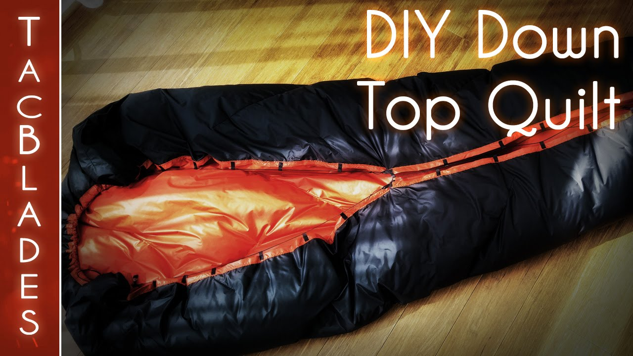 diy down quilt underquilt 700g 7 c 25oz 20 f youtube