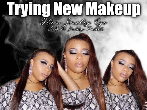 Trying New Marshall's&Burlington Makeup|Glam Smokey Eye|ABH Sultry Palette thumbnail