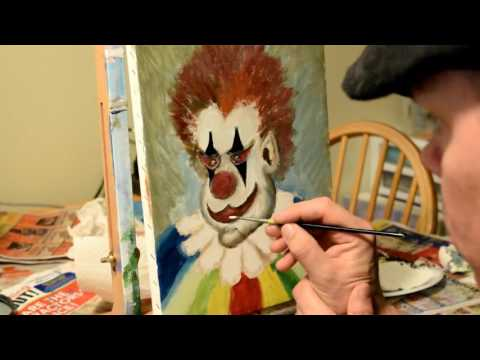 Painting a Clown!