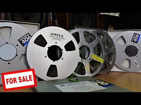 Ampex Studio Tape - Australian Broadcasting Corporation - RAI - Ampex 406 Reel Alu