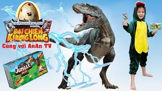 Tập 1: Ăn Bánh Khủng Long Jungle Boy Săn Thẻ Cực Hấp Dẫn 💎 AnAn ToysReview TV 💎