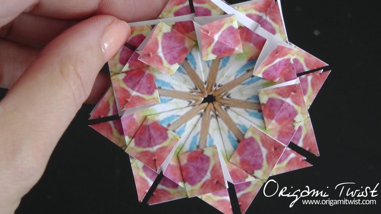 paper star medallion teabag folding 3