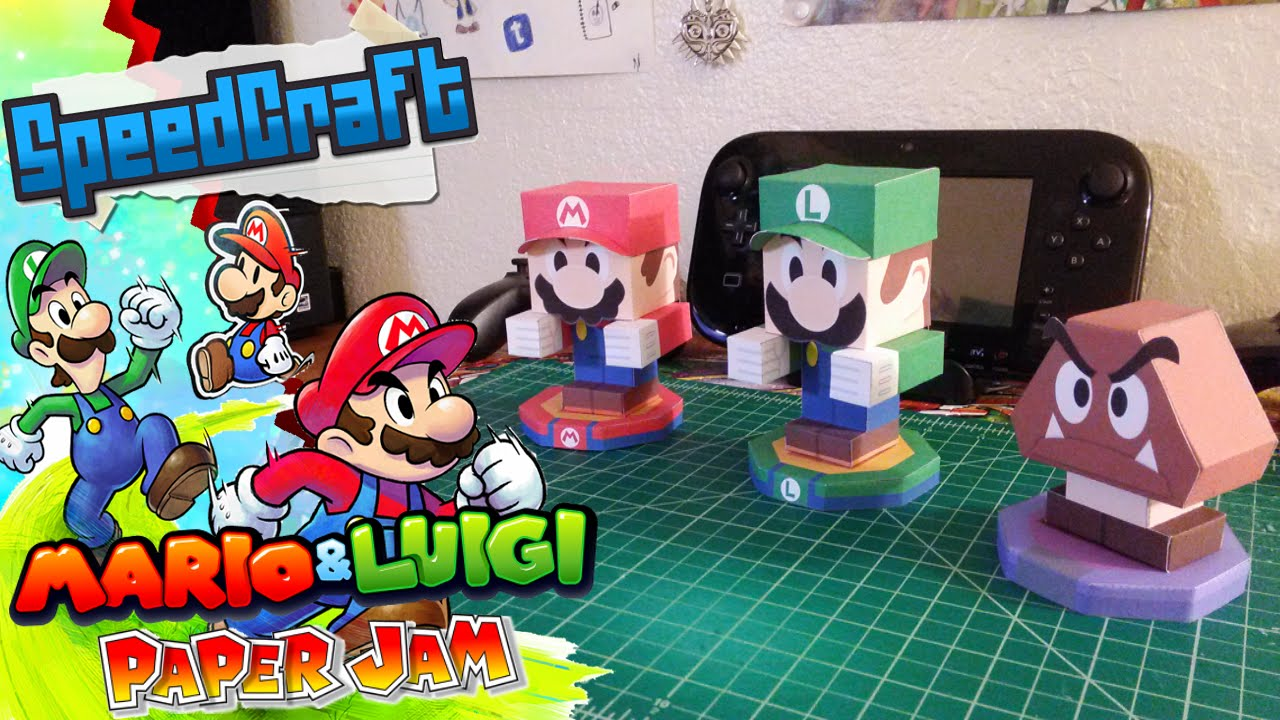 mario luigi paper jam papercraft models youtube