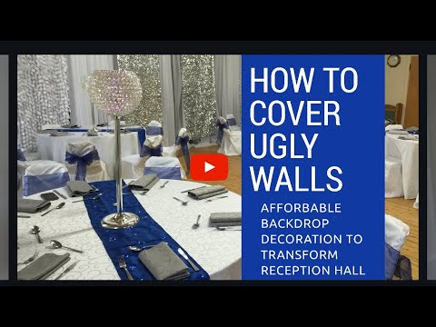 How to decorate an ugly wall, wedding reception, wedding backdrop tutorial, diy wedding backdrop