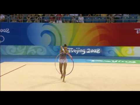 Evgenia Kanaeva Beijing 2008 Hoop