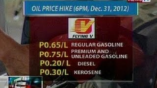 NTL: Oil price hike (6PM, Dec 31, 2012)(News TV Live is GMA News TV's breaking news segment. It airs several times throughout the day on GMA News TV Channel 11, in between regular programs., 2012-12-31T09:03:46.000Z)