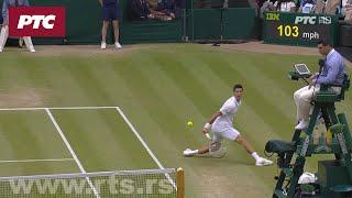 Vimbldon, finale: Đoković - Federer ( Poen Đokovića u taj brejku)