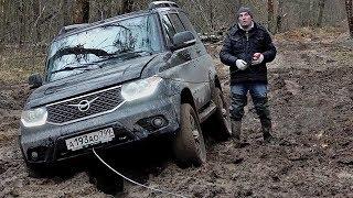 Засадили УАЗ Патриот с заводской лебедкой // АвтоВести Online