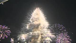 Burj Khalifa - Dubai New Year's Eve Fireworks 2012