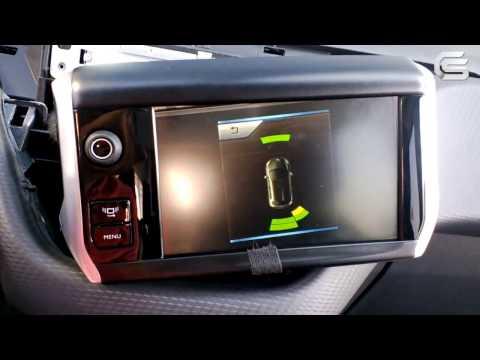 Видеоинтерфейс для Peugeot 208, 2008. Работа подключенной камеры